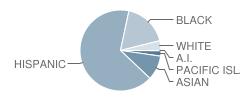 Los Medanos Elementary School Student Race Distribution