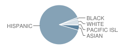 John Muir Fundamental School Student Race Distribution