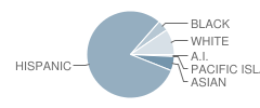 Las Palmas Intermediate School Student Race Distribution