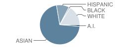 Pukalani Elementary School Student Race Distribution
