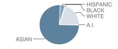 Kamakahelei Middle School Student Race Distribution