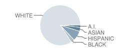 Douglas County West Middle School Student Race Distribution