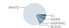 Sequim Middle School Student Race Distribution